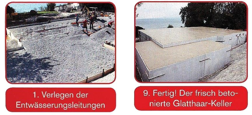 Keller: Von der Verlegung der Entwässerungsleitungen bis zur Betonierung