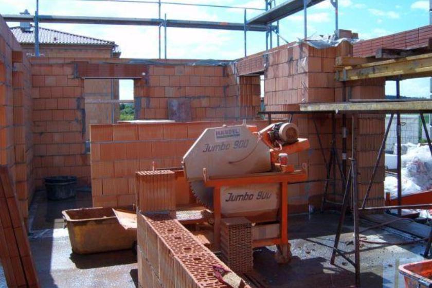 Rohbau: Maurerarbeiten Erdgeschoß