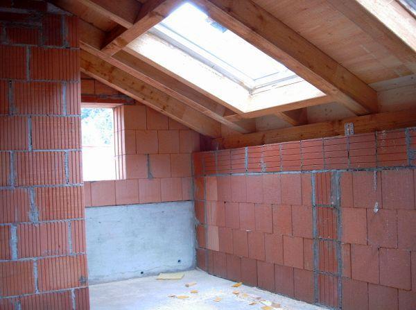 Rohbau: Eingebaute Dachfenster