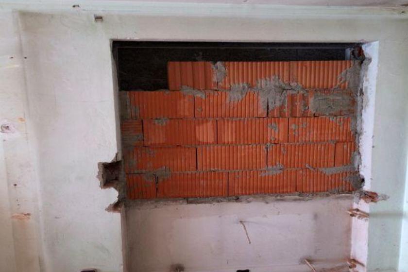 Vor Umbau und Sanierung: Platz für Heizung