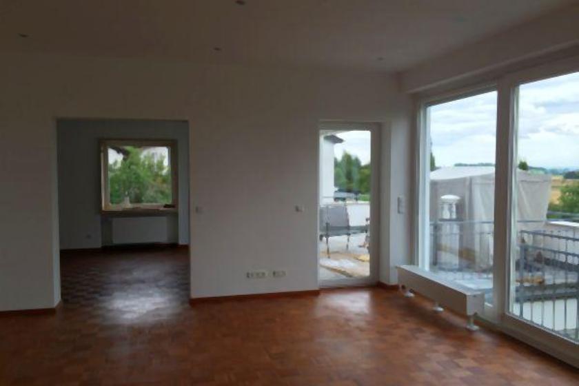Nach Umbau und Sanierung: Wohnbereich