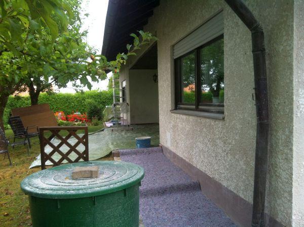 Terrasse vor Sanierung
