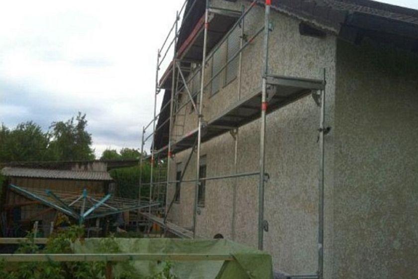 Sanierung: Gerüstaufbau
