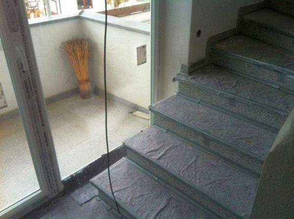 Isolierung: Sicht aus Treppenhaus