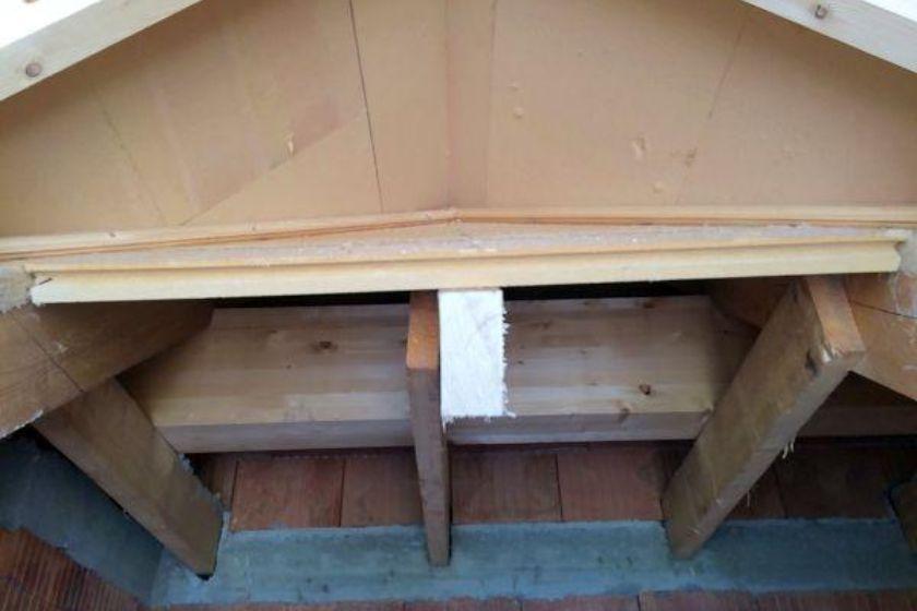 Rohbau: neuer Dachgiebel