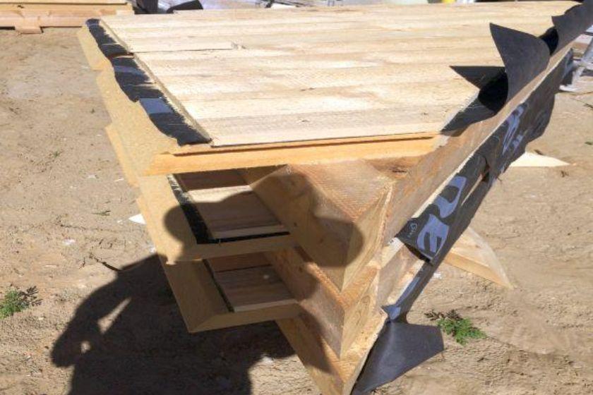 Rohbau: Maßgefertigtes Einzelteil für Dachgiebel