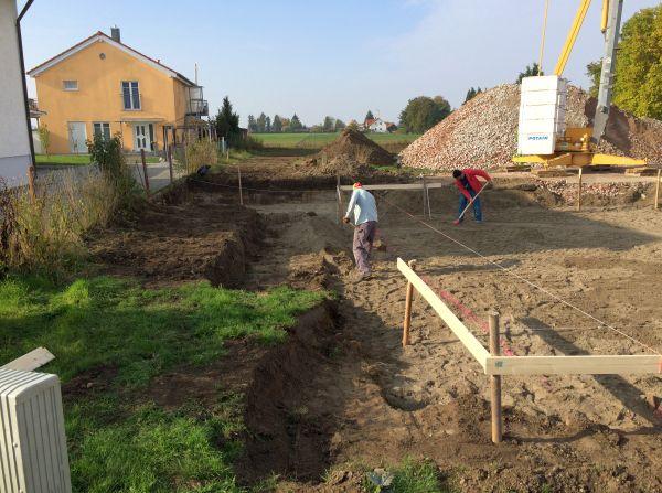 Rohbau: Vorbereitende Maßnahmen nach Bauaushub