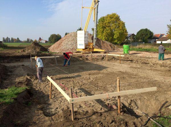 Rohbau: Vorarbeiten nach Bauaushub