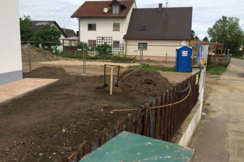 Einfamilienhaus Modell Jurahaus: Vorbereitung Gartenanlage