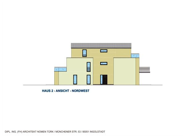 Haus 2: Ansicht Nordwest