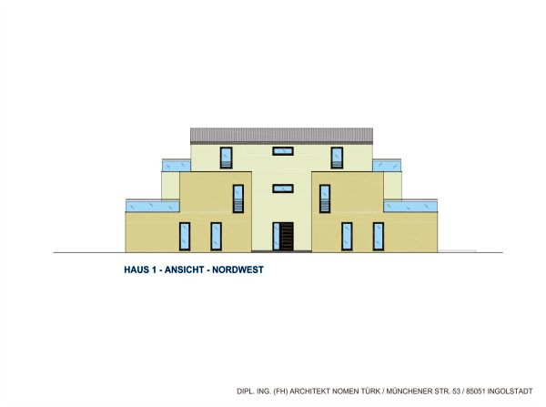 Haus 1: Ansicht Nordwest