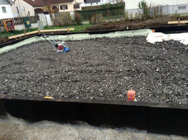 Jurahaus: Schaumglasschotter zur Dämmung